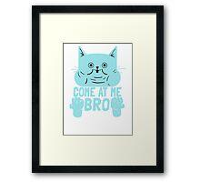Cat Kitten Come At Me Bro Framed Print