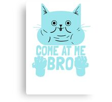 Cat Kitten Come At Me Bro Canvas Print