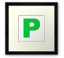 Pass Plate Framed Print
