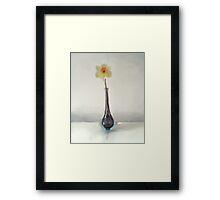 Still LIfe Daffodil in Glass Vase Framed Print