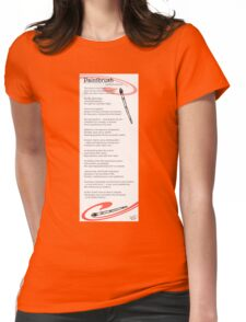 paintbrush poem Womens Fitted T-Shirt