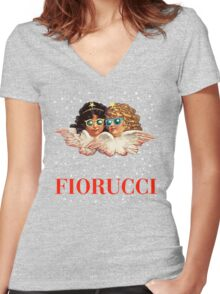 FIORUCCI 2 Women's Fitted V-Neck T-Shirt
