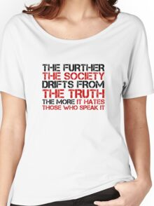 George Orwell Quote Free Speech Truth Political Women's Relaxed Fit T-Shirt