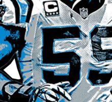 FAN ART - Luke Kuechly Carolina Panthers 59 (T-shirt, Phone Case & more)  Sticker