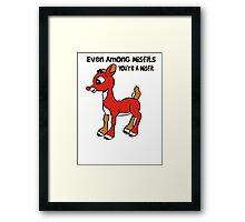 Rudolph The Red Nosed Reindeer Misfit Framed Print