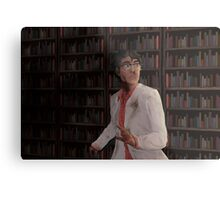 WTNV - Carlos and the Library Metal Print