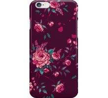 Pixel Floral - Arrangement in Pink (dark) iPhone Case/Skin