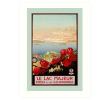 Vintage romantic Lake Maggiore Italian Travel  Art Print