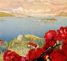 Vintage romantic Lake Maggiore Italian Travel  Sticker