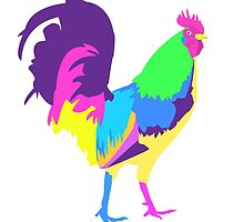 Psychedelic Chicken by stcoraline