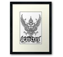 Garuda Muay thai traditional thailand martial art Framed Print