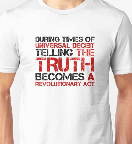 George Orwell Quote Truth Freedom Free Speech Unisex T-Shirt