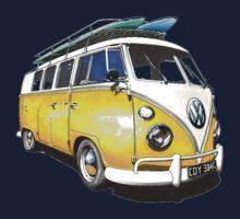 VW Bus Sunshiney day Kids Tee