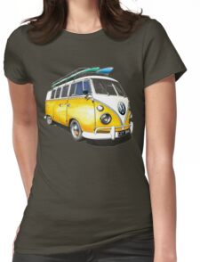 VW Bus Sunshiney day Womens Fitted T-Shirt