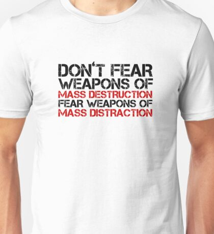 Mass Media Lies Distraction Truth Free Speech Unisex T-Shirt