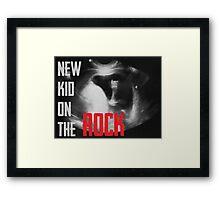 New Kid on the Rock Framed Print