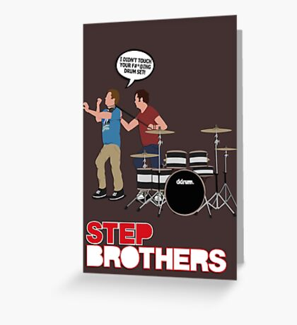 STEP BROTHERS DRUM SET Greeting Card