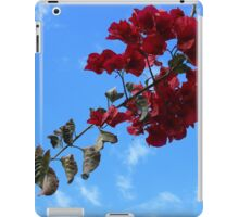 Red Blossoms Blue Sky iPad Case/Skin