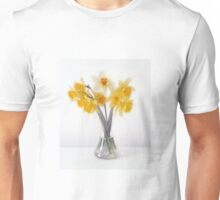 Still LIfe Daffodils in Glass Bell Vase Unisex T-Shirt