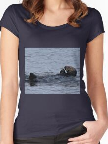 Praying Sea Otter Women's Fitted Scoop T-Shirt