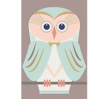 HOODED OWL Photographic Print