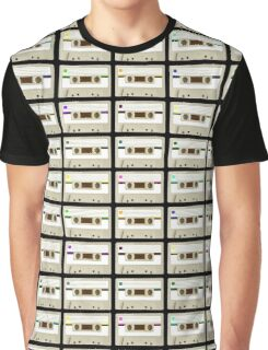 Retro Cassette Tape Print Graphic T-Shirt
