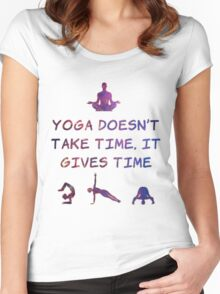 Yoga #2 Women's Fitted Scoop T-Shirt