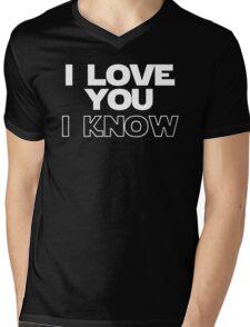 I Love You/I Know Mens V-Neck T-Shirt