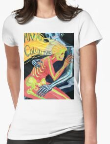 Animal Collective Skeletons Womens Fitted T-Shirt