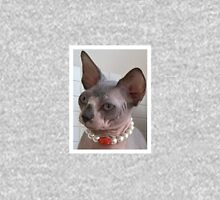 Sphynx cat bicolor blue and white Unisex T-Shirt