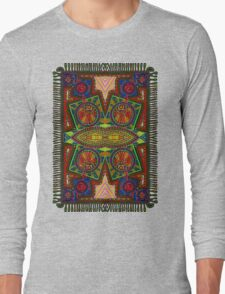 Psychedelic Abstract colourful work 227Big Crest Long Sleeve T-Shirt