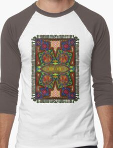 Psychedelic Abstract colourful work 227Big Crest Men's Baseball ¾ T-Shirt