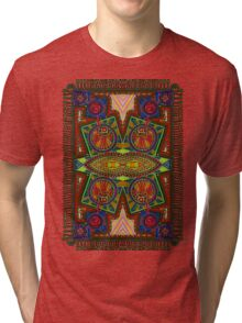 Psychedelic Abstract colourful work 227Big Crest Tri-blend T-Shirt