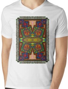 Psychedelic Abstract colourful work 227Big Crest Mens V-Neck T-Shirt
