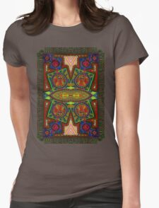 Psychedelic Abstract colourful work 227Big Crest Womens Fitted T-Shirt