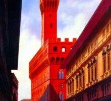 Florence Firenze 1920s Italian travel ad, palazzo vecchio Sticker