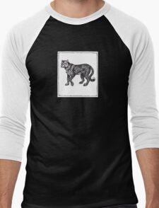 Graphic Cheetah Men's Baseball ¾ T-Shirt