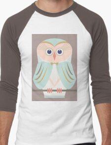 HOODED OWL Men's Baseball ¾ T-Shirt