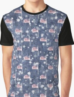American Flag Aglow, star spangled pattern Graphic T-Shirt