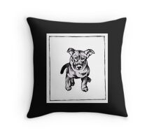 Graphic Pup Throw Pillow