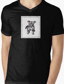 Graphic Pup Mens V-Neck T-Shirt