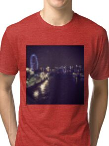 London Night Scene Tri-blend T-Shirt