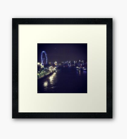 London Night Scene Framed Print