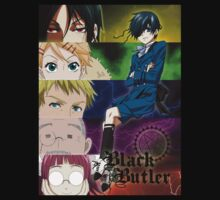 Black Butler - Ciel and his servants One Piece - Short Sleeve