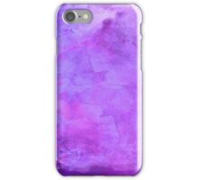 Purple Blue Violet Watercolor Paper Background Texture iPhone Case/Skin