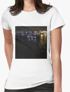 London river scene Womens Fitted T-Shirt