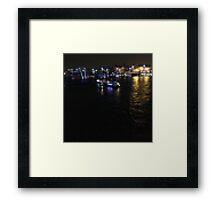London river scene Framed Print