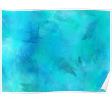Purple Aqua Teal Turquoise Blue Watercolor Paper Texture Background Poster