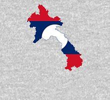 Flag Map of Laos  Unisex T-Shirt