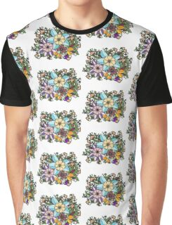 Intricate Floral Graphic T-Shirt